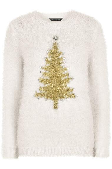 Eyelash Christmas Tree Jumper