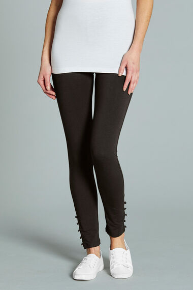 Button Hem Legging
