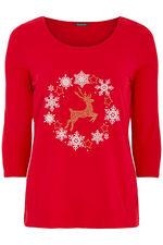 Reindeer Diamante T-Shirt
