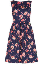 Floral Print Fit and Flare Dress