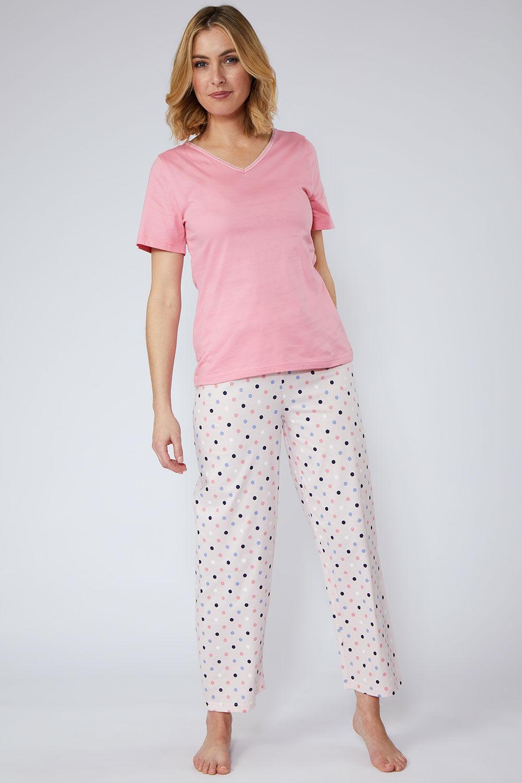 Size 10-20 Navy Print Ladies Button Front Satin Night Shirt
