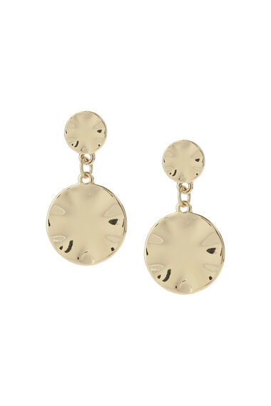 Muse Hammered Stud Drop Earring