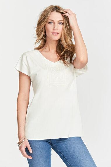 Embroidered Bib T-Shirt