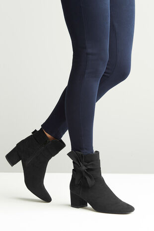 Comfort Plus Suedette Bow Detail Boot