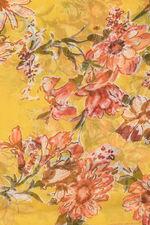 Bright Floral Chiffon Scarf