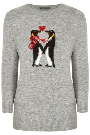 Love Penguins' Christmas Jumper