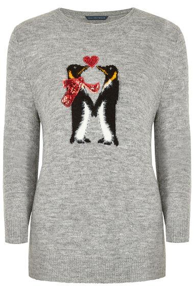 Love Penguins' Christmas Jumper