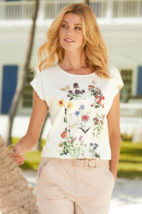 Floral Print with Foil T-Shirt