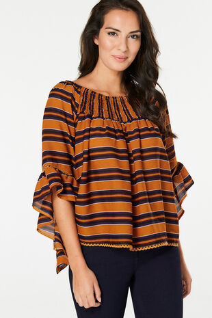 Izabel Frill Sleeve Top