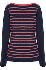 Metallic Yarn Striped Jumper