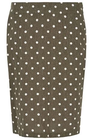 Spot Linen Blend Skirt