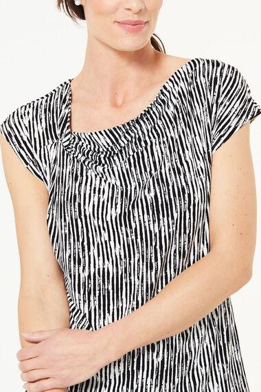 Knot Detail Stripe Top