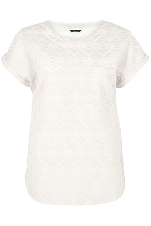 Embroidered Shell Top
