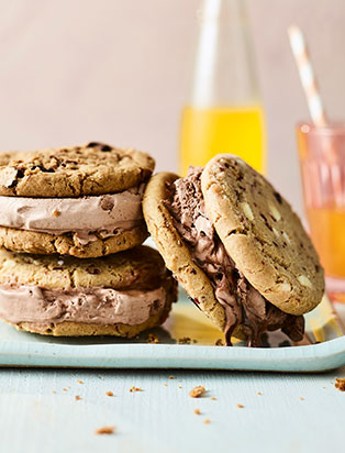 Chocolate-Ice-Cream Sandwich | Recipes by Gino D'Acampo