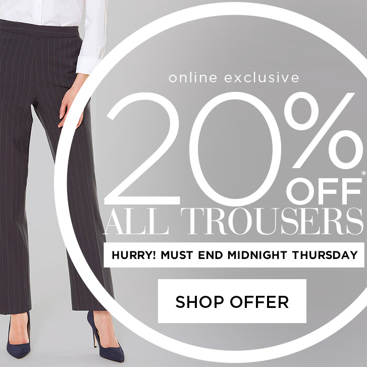 20% off trousers
