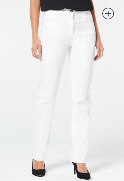 Sara Straight Leg Jean - White
