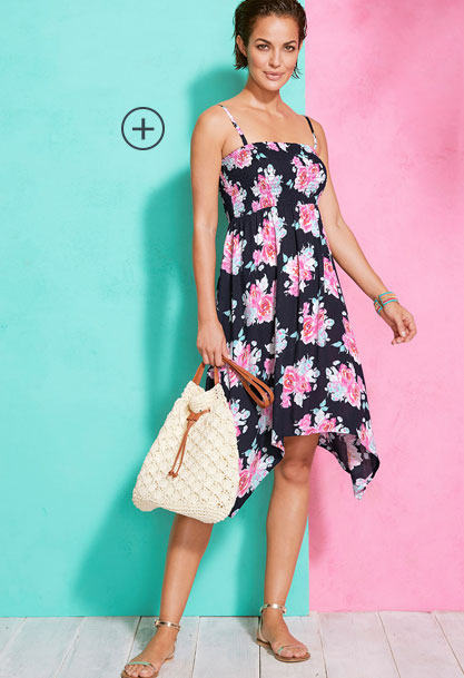 Floral Print Multiway Beach Dress