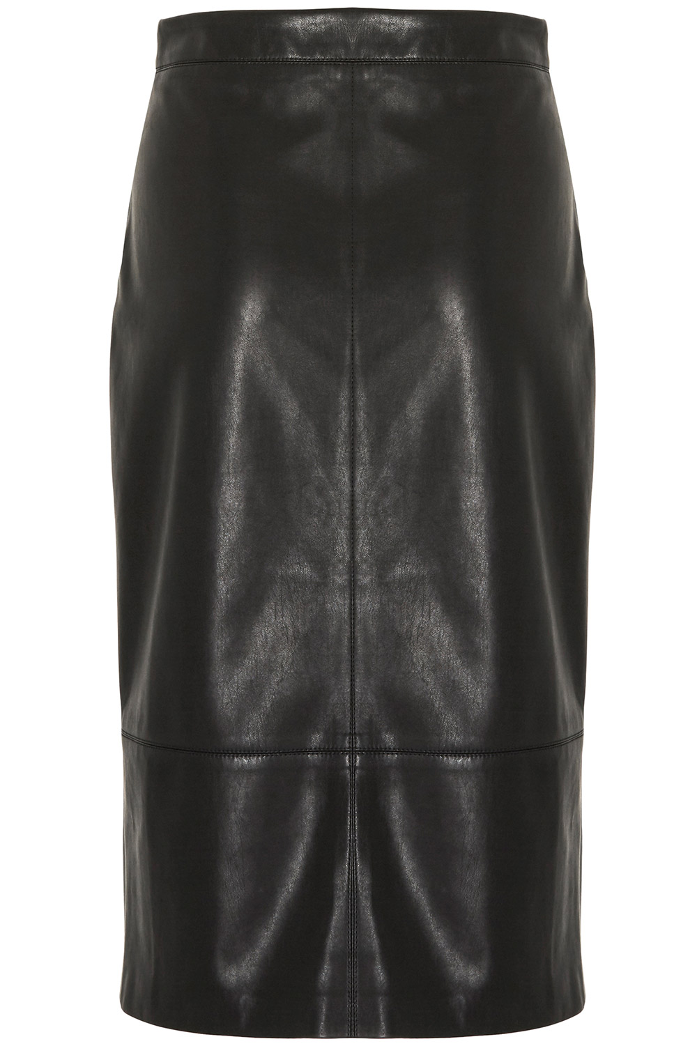 a line faux leather skirt