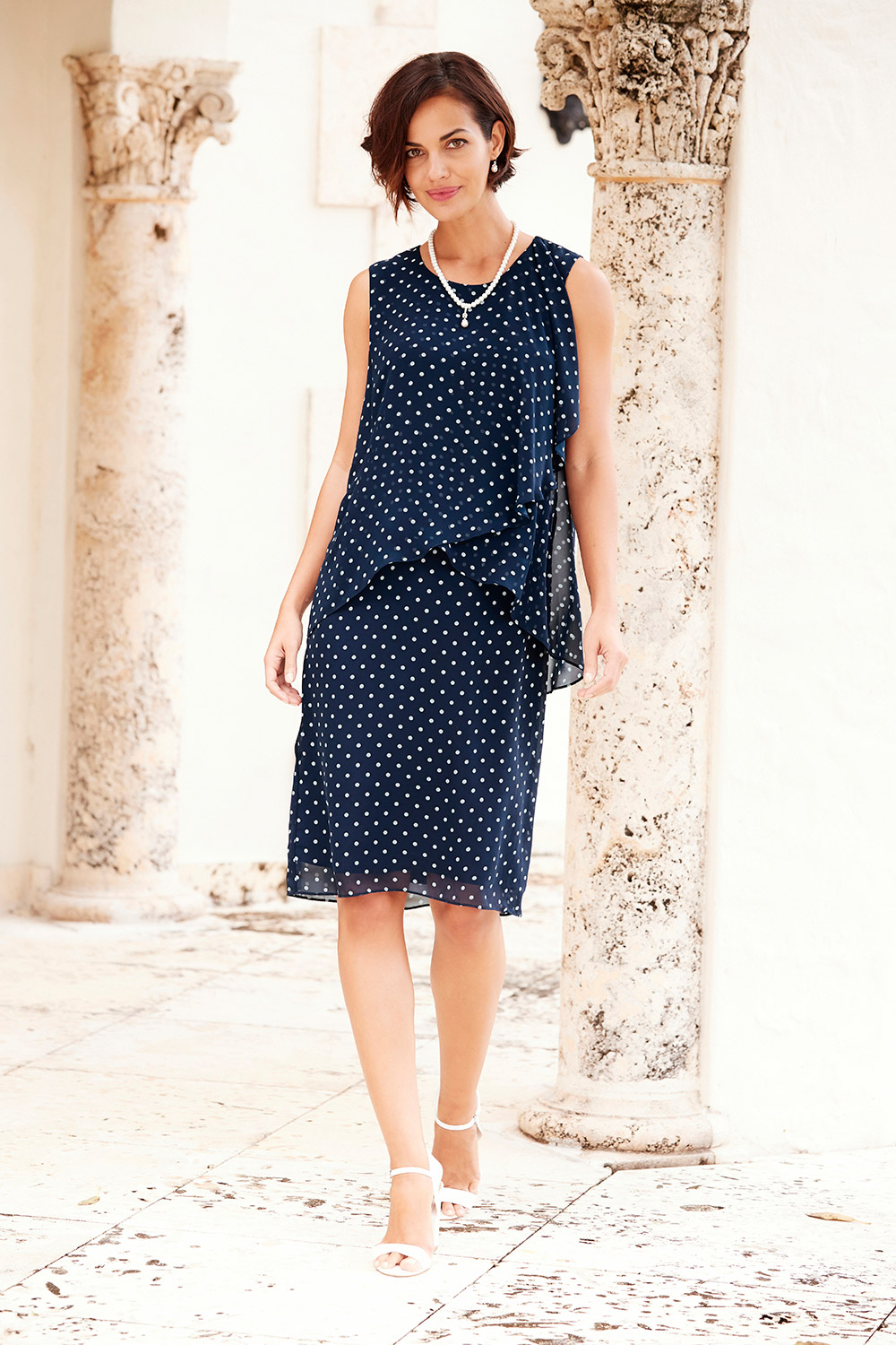 Double Layered Spot Dress
