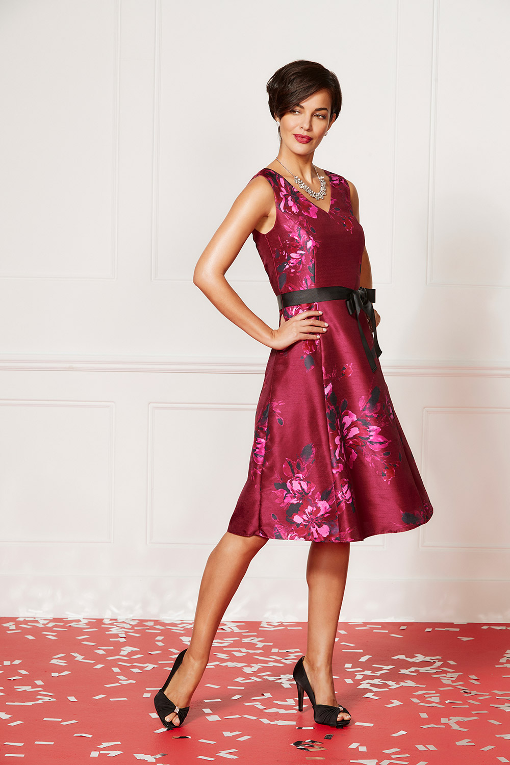 a2ce53bf433 Red Floral Print Prom Dresses - Gomes Weine AG