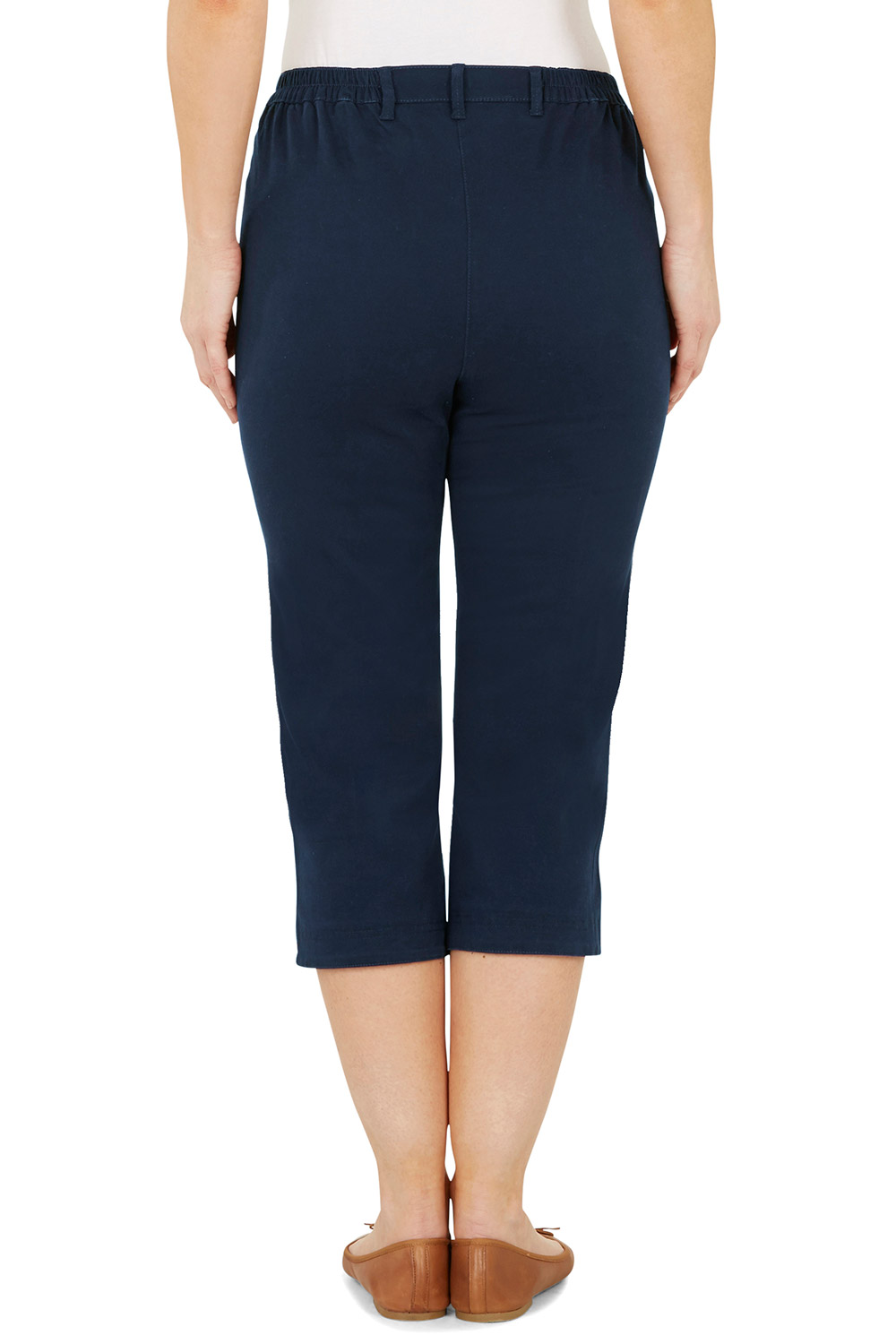965d246fd62bd Stretch Twill Cropped Trousers
