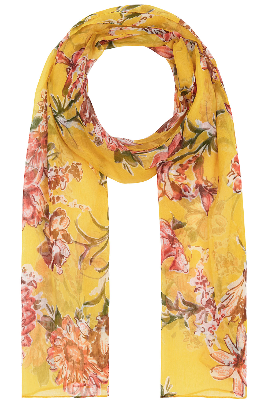 2668b1db45330 Bright Floral Chiffon Scarf