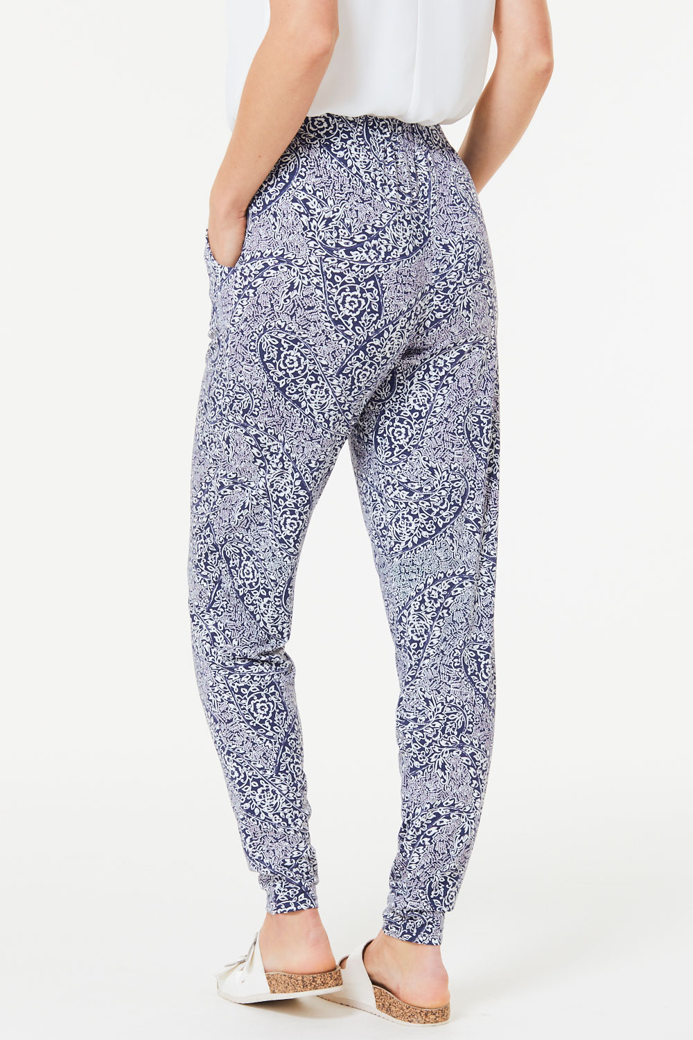 aaa8bdb024d1f8 Paisley Print Jersey Harem Trousers