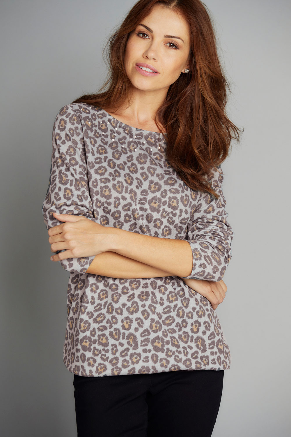 Animal Print Soft Touch Top