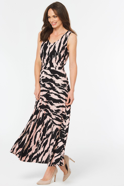 a484fbc84500f Tiger Stripe Print Maxi Dress