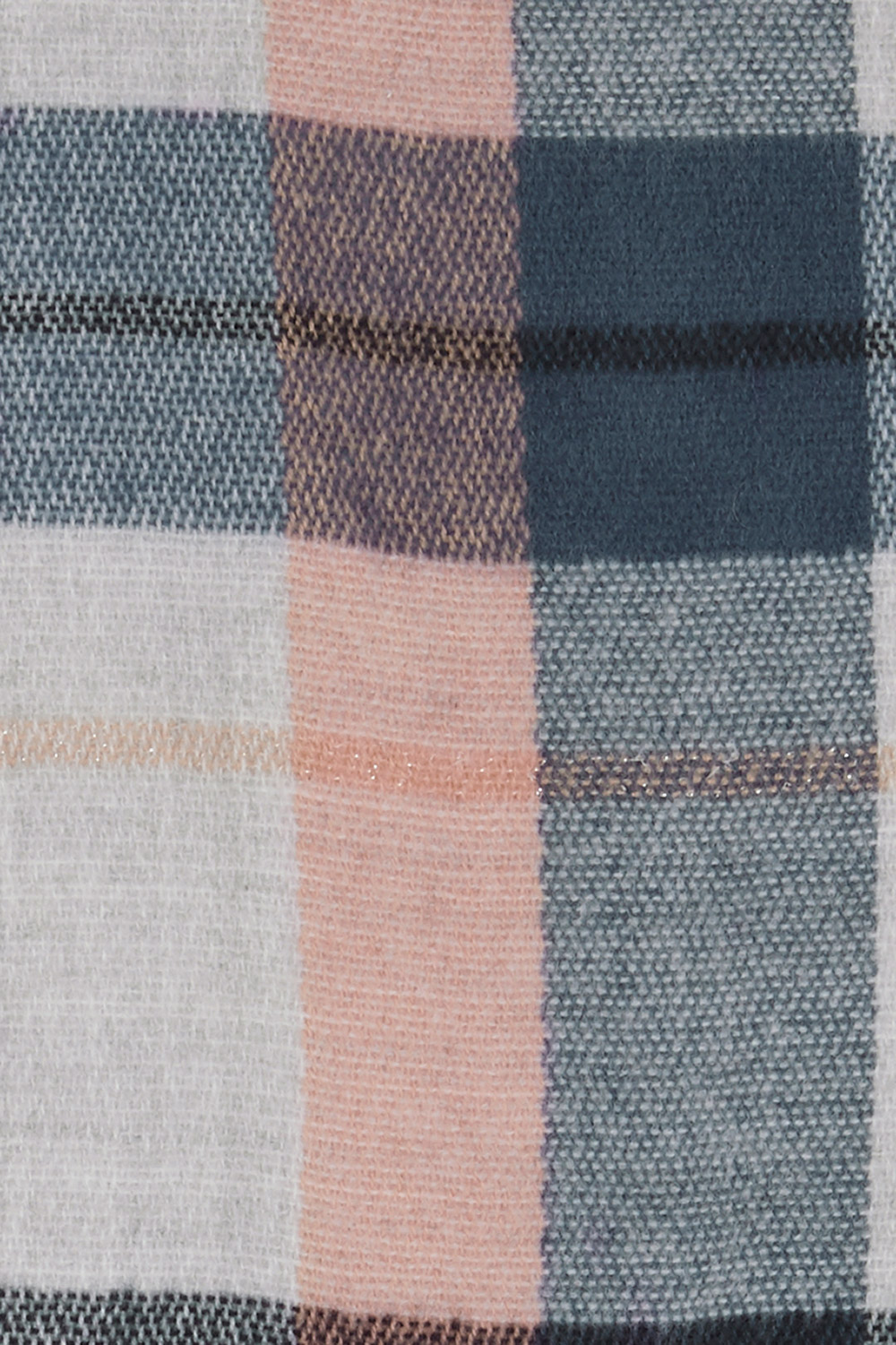 9b9ffc13629 Blue and Ivory Brushed Check Scarf